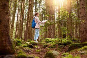 A woman trying to find her way in the woods. We can help you find your way We provide Counseling Services in Beachwood, Ohio 44122, in the Cleveland, Ohio area. We offer support for marriage counseling, Christian counseling, anxiety, depression, low-self esteem, stress, life transitions, emotional management, overeating, weight management and more.